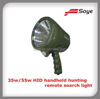 35w/55w HID handheld hunting spotlight, marine remote search light,hid rechargeable portable search lights car
