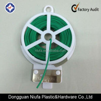 plastic coated garden soft twist tie with single iron wire for plant binding
