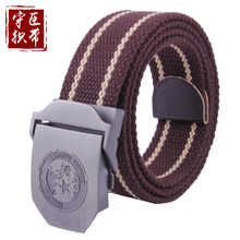 fashion custom canvas military belt with metal buckle