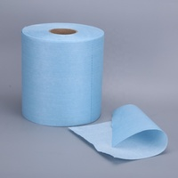 Disposable nonwoven industrial cleaning wipes