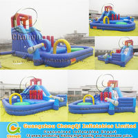funny outdoor industrial inflatable water slide