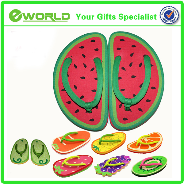 High quality Wholesale customized printed fruit children EVA Slipper