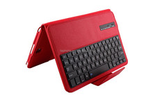 Wireless Bluetooth Keyboard+Folio Stand Leather Case Cover for Samsung Galaxy Tab 10.1inch P7510 P7500-SA105