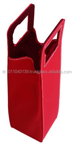 Genuine leather low cost Wine Bottle carrier Bag