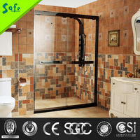 stainless steel sliding tempered glass frameless shower doors
