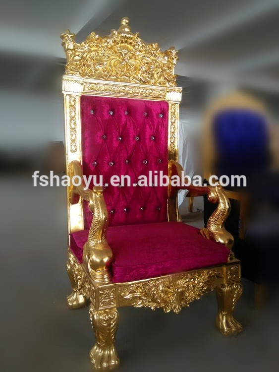 Golden Wood King Throne Chair Red Velvet Cheap King Throne Chair Buy Cheap King Throne Chair Gold Throne Chairs Antique Reproduction Wood Throne