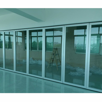 Manufacturer Aluminum Frame Glass Folding Partition Wall for Boardroom