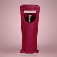 Small Non Woven Wine Tote Bag One Bottle Wine Holder Carry Bag for Gift Packing