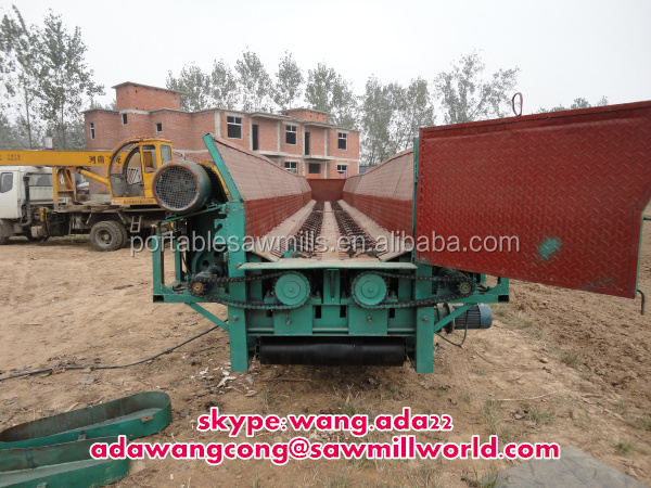 high productivity electric barker wood log peeling machine