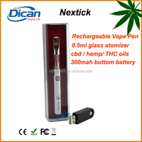 2016 DICAN new product cbd 510 glass vape pen ecig Nextick model oil vaporizer pen wholesale