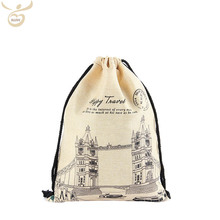 Heavy Duty Wholesale Dubai Organic Cotton Canvas Fabric Muslin Drawstring Bag