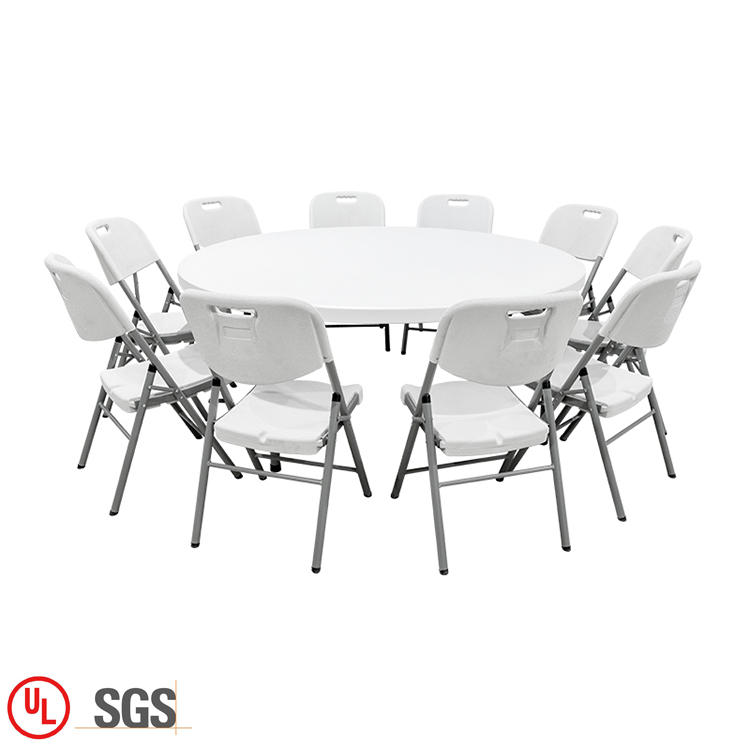 <strong>plastic</strong> garden furniture 6FT Round table and chair