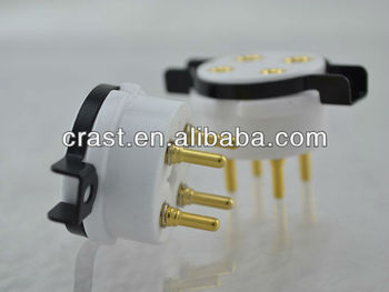 Audiocrast Gold Plated Ceramic 4 Pin Tube Socket