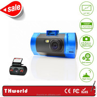 Shenzhen factory Manual Car Camera HD DVR with DUAL lens car dvr 12.0mp A10 chipset