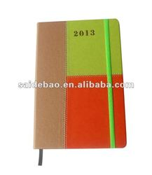 Slim Pocket Diary Notebook with elastic band as closurer