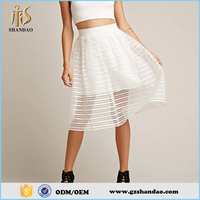 2016 guangzhou shandao summer long sexy transparent women flare dance can can skirts