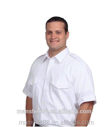 Mens Short Sleeve Pilot Shirt