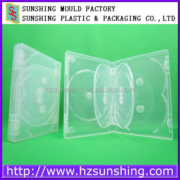 Wholesale China Alibaba 25mm Clear 7 discs case,7 dvd case