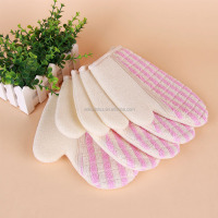 2016 Amazon supplier Bath Brushes Sponge Scrubbers nylon exfoliating bath glove