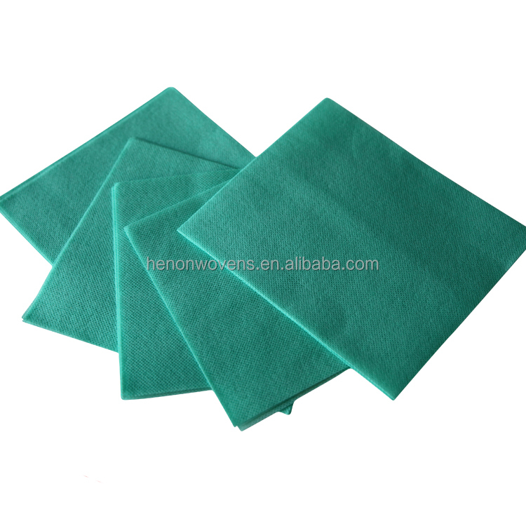 Wholesale 1/4 folded 22mesh disposable spunlace nonwoven cleaning wipes