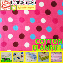 Top quality dyed 100% cotton flannel fabric for sheeting
