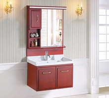 AS-22001 Cheap Price Bathroom Vanity Small Size Solid Wood Bathroom Vanity Wall Mounted Bathroom Vanity Cabinet