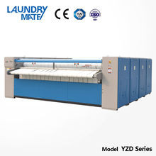 steam/electric heated commercial laundry roller press machine for hospital /laundry shop price