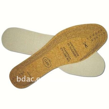 cork cotton shoe cushion insole