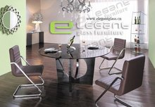 2015 glass top marble base dining table
