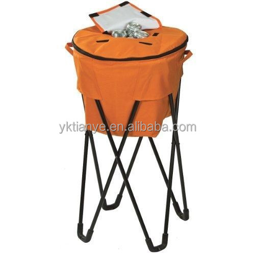 folding picnic cooler bucket dold flat