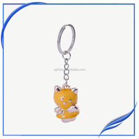 Promotion Cute Acrylic Cat Keychain Creative Plastic Cat Pendant Key Ring Chain
