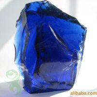 Natural Clear Colored Cobalt Blue Slag