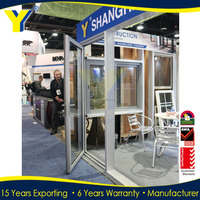 YY factory supplied double glazed thermally broken frames of Aluminium exterior french doors