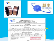 copper coated welding material ER70S-6 CO2 gas shielded mig welding wires low AWS A5.18 (0.6mm-2.0mm)