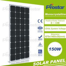 thin film 150W mono photovoltaic panel cell manufactures