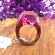 Wedding Anniversary Bohemian rings, Wood Resin Ring for Gift