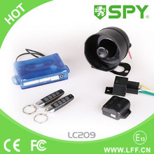 SPY one way car alarm system, 1 way magic car alarm with shock warning, anti-hijacking, dome light delay