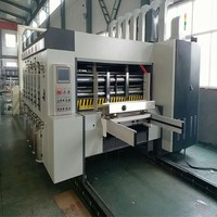 die cutting creassing machine feeding 2 color semi auto corrugated carton printer slotter