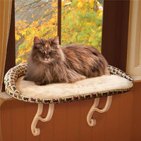 Pet Bed Sturdy Micro Fleece Soft Sunshine Window Sill Bed