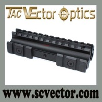 Vector Optics High-Durability Aluminum Alloy See-Through Type Triple Riser Base Picatinny Rail Mount