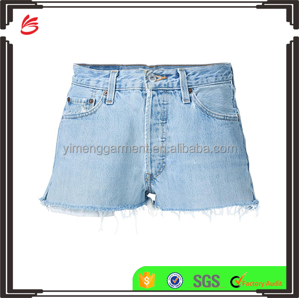 2017 latest Summer Fashion OEM mid-rise casual denim shorts jeans pant Hot Girls Sexy Board Shorts