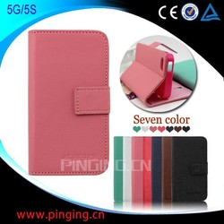 Phone Case Wholesale Stand Wallet Leather Case for Iphone 5