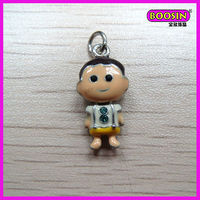 Alloy jewelry main material enamel happy boy charm for key chain(17252)