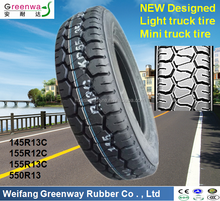 China factory NEW Designed TBR tires 145R13C 155R12C 155R13C 5.50R13 with high quality tbr reinforced