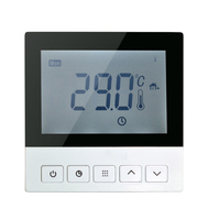 Large display 2 pipe heat/cool air conditioner room thermostat; Fan Coil room thermostat