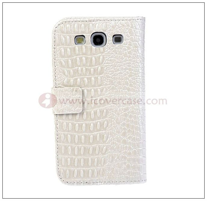 Stylish Croco leather wallet mobile phone case for Samsung galaxy s3 i9300