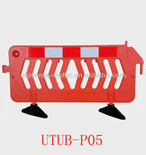 red colourful traffic safety barrier