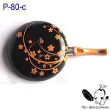 online hot sell aluminium stamped fry pan with silk print decail in bottom