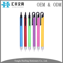 HF5288A hot sale custom solid color recycled plastic ball pens with logo