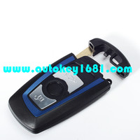 MS newest color car key shell replacement key case for bmw 3 button key case with uncut blade
